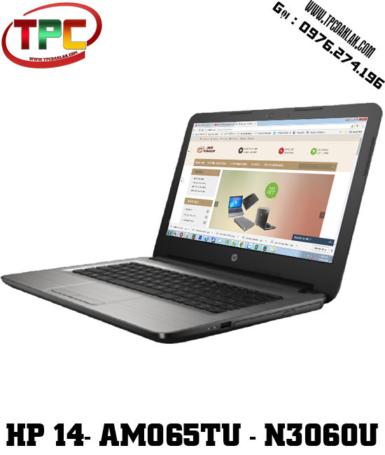 Laptop HP 14 am065TU N3060/RAM 4GB/HDD 500GB | LCD 14INCHES | Laptop Cũ Đak Lak